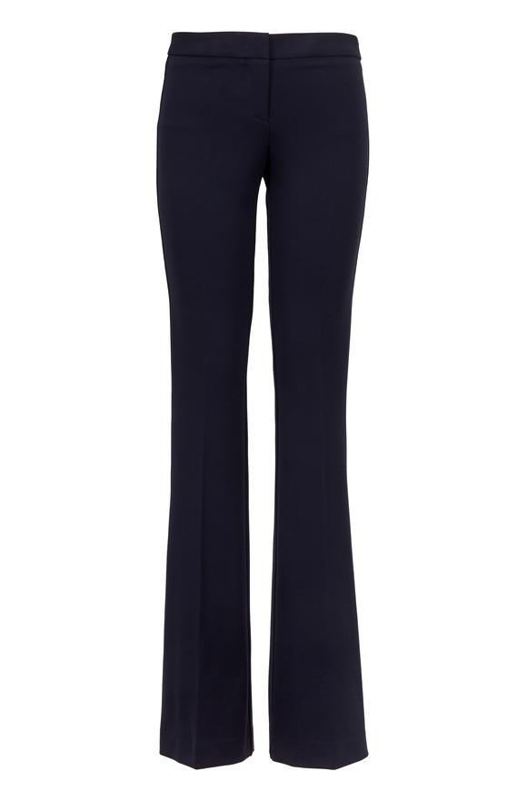 Derek Lam Alana Navy Blue Stretch Jersey Pant