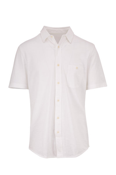 Faherty Brand - Solid White Short Sleeve Shirt