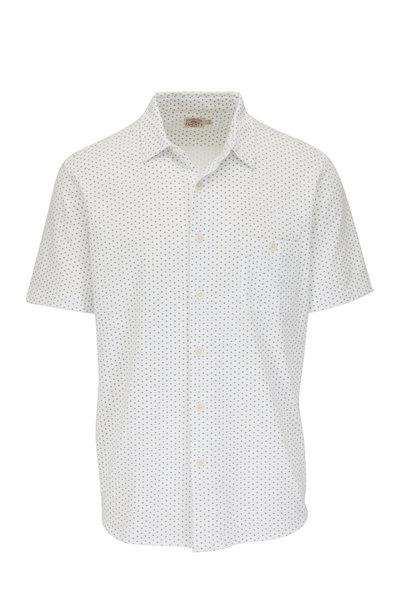 Faherty Brand - White Fleck Short Sleeve Pocket Sport Shirt