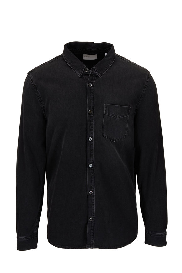 BLDWN Diego Washed Black Denim Shirt