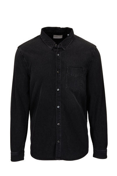 BLDWN - Diego Washed Black Denim Shirt