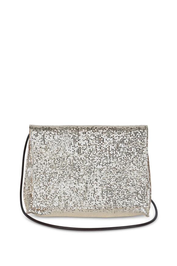 B May Bags Prosecco Metallic Leather Crossbody