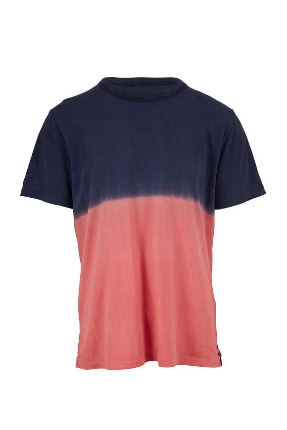 Sol Angeles Terracotta & Navy Dip Dye Crewneck T-Shirt