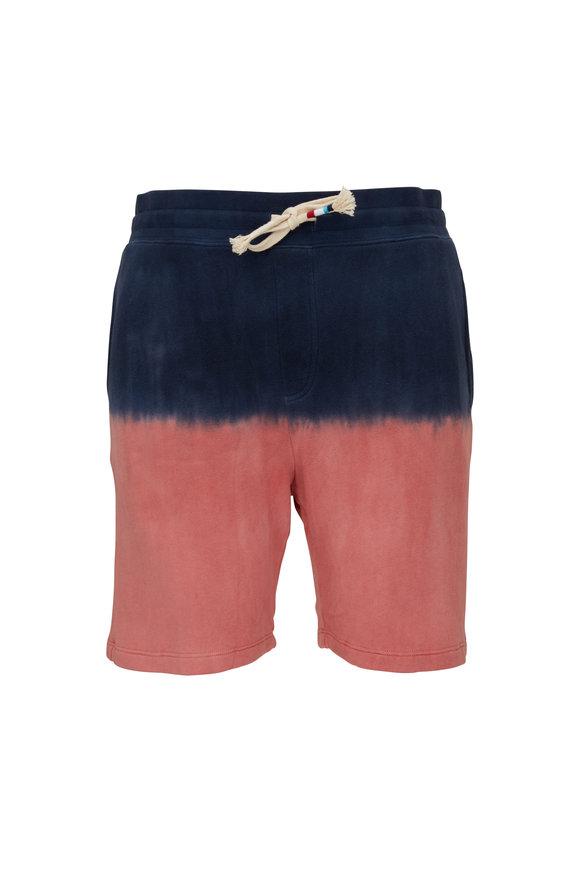 Sol Angeles Terracotta & Navy Dip Dye Sweat Shorts