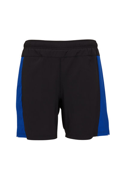 Fourlaps - Bolt Black & Royal Nylon Shorts