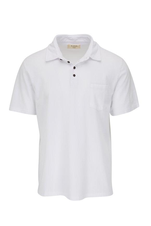M.Singer Magic Wash White Short Sleeve Polo
