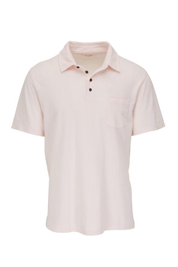 M.Singer Magic Wash Sorbet Pink Short Sleeve Polo