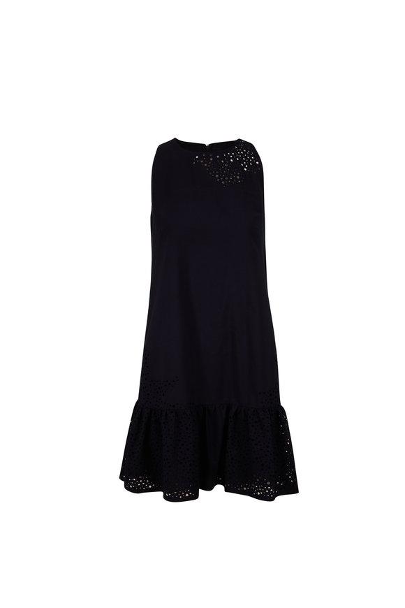Akris Punto Night Sky Eyelet Sleeveless Dress