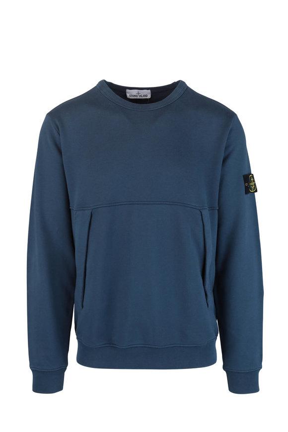 Stone Island Marine Blue Crewneck Sweatshirt