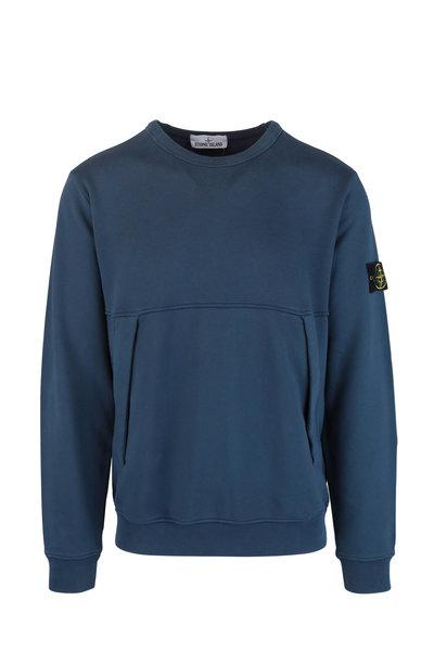 Stone Island - Marine Blue Crewneck Sweatshirt