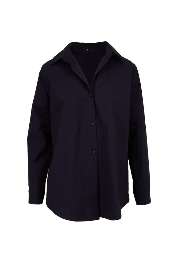 Peter Cohen Navy Blue Cotton Jacket