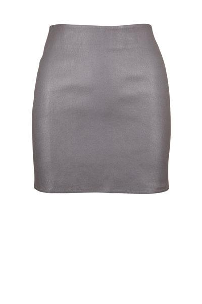 Zeynep Arcay - Silver Leather Mini Skirt