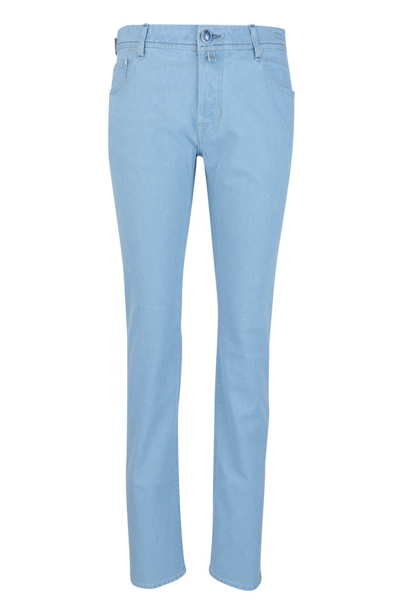 Jacob Cohen  Azure Washed Cotton Five Pocket Pant