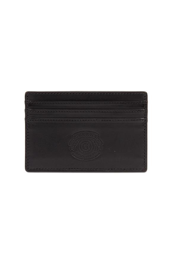 Ghurka Black Slim Card Case