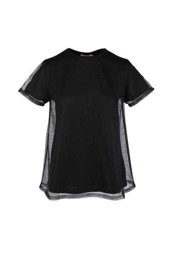Moncler Black Mesh Overlay T-Shirt