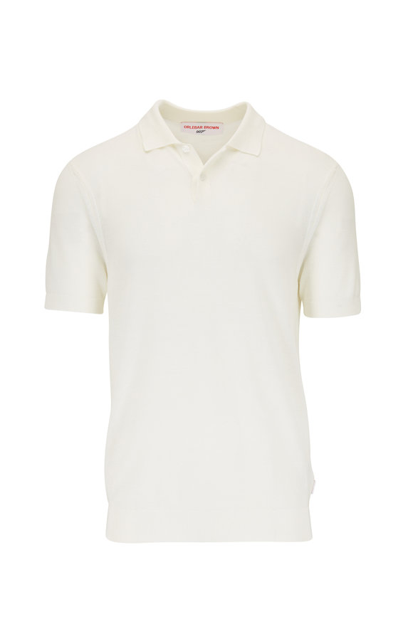 Orlebar Brown Dr. No Ivory Knit Polo