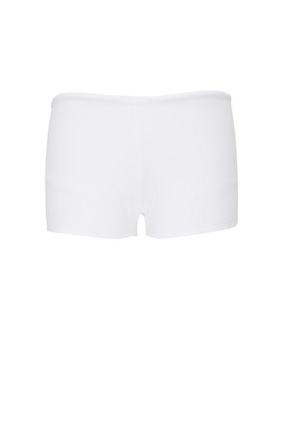 Orlebar Brown Thunderball Bassett White Swim Trunks