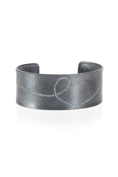 Todd Reed - Sterling Silver White & Raw Diamond Cuff