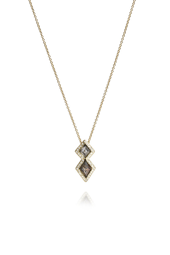 Todd Reed 18K Yellow Gold Diamond Pendant Necklace
