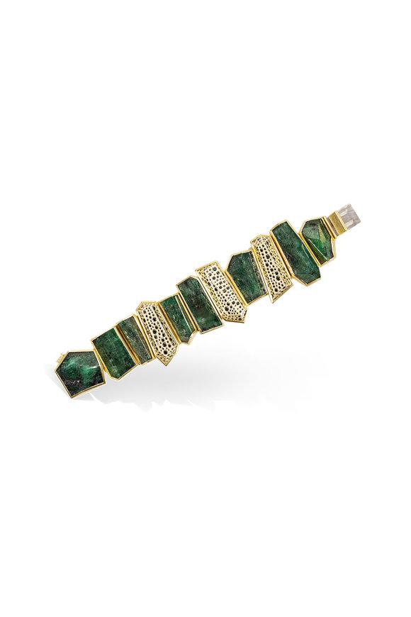 Todd Reed 18K Yellow & 14K White Gold Emerald Bracelet