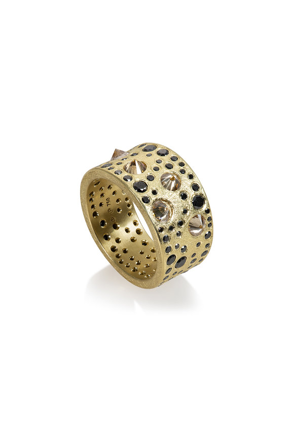 Todd Reed 18K Yellow Gold Speckled Diamond Band