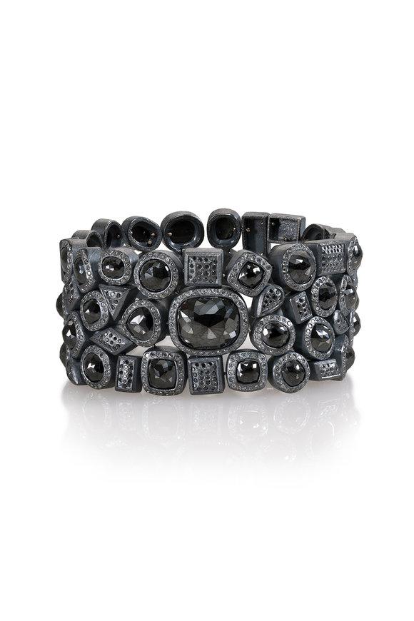 Todd Reed Sterling Silver Black Diamond Bracelet