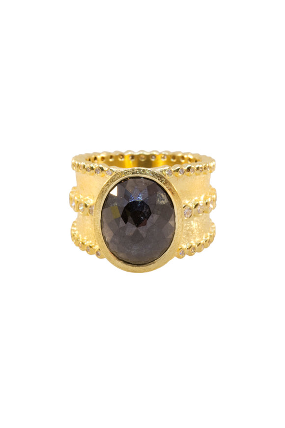 Todd Reed 18K Yellow Gold One Of A Kind Center Diamond Ring