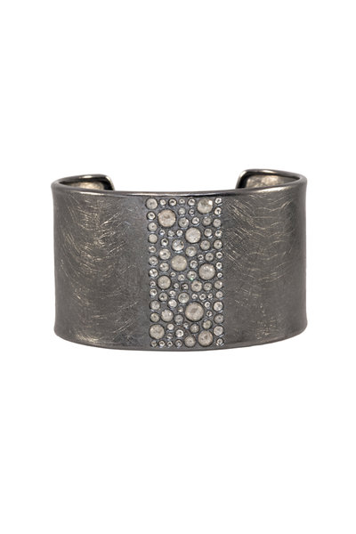 Todd Reed - Sterling Silver Diamond Line Cuff