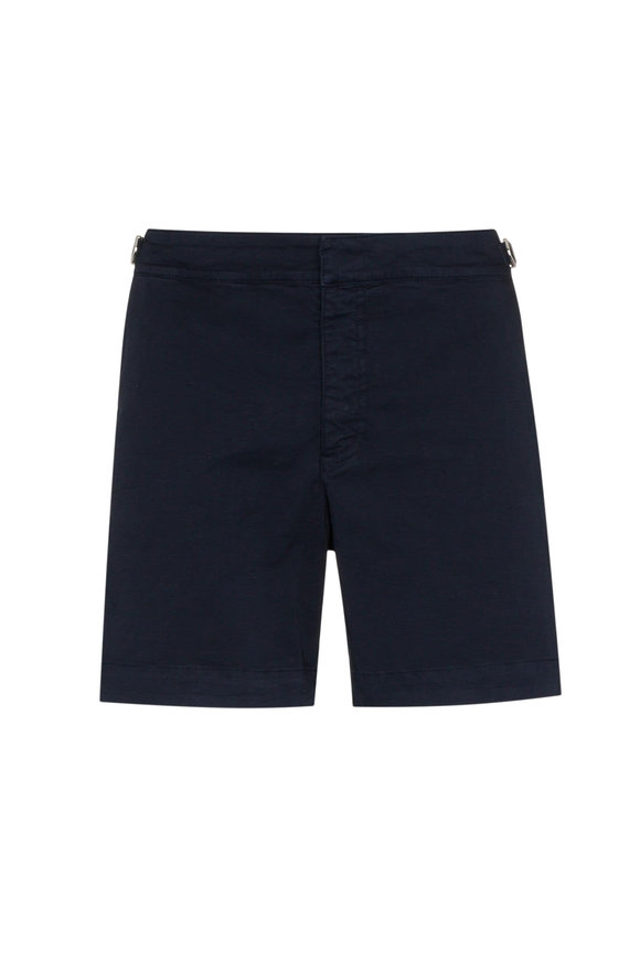 Orlebar Brown Bulldog Solid Navy Shorts