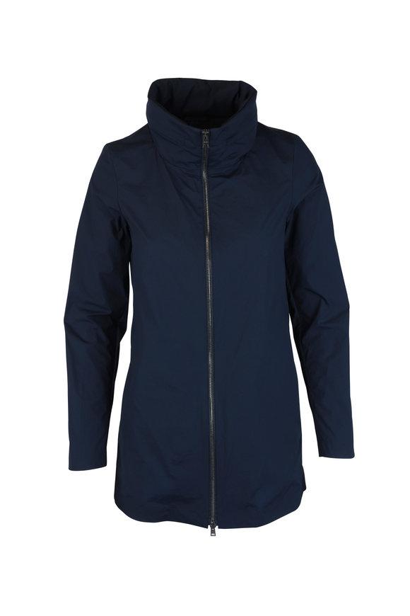 Herno Globe Navy Blue Hooded Jacket