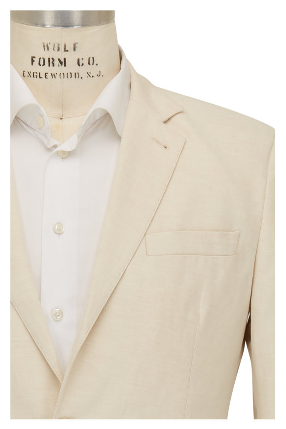 Orlebar Brown Bond Tan Cotton & Linen Sportcoat