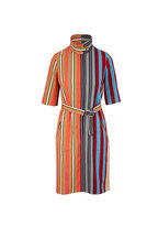 Akris Punto - Parasol Striped Poplin Belted Dress