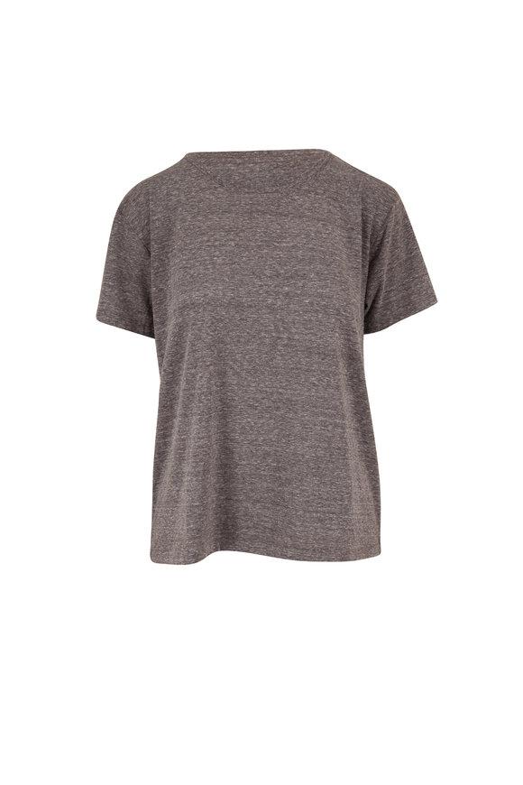 John Elliott Tri-Blend Gray Jersey Relaxed Fit T-Shirt