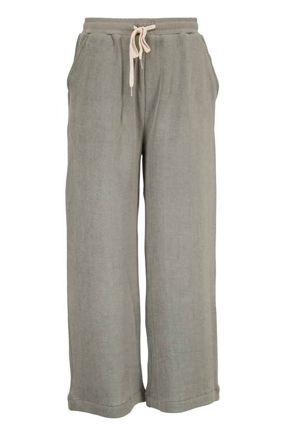 John Elliott Thyme Cotton Corduroy Knit Crop Sweatpant