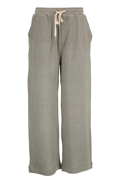 John Elliott - Thyme Cotton Corduroy Knit Crop Sweatpant