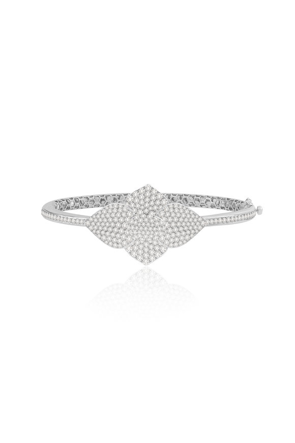 Sutra 18K White Gold Diamond Bracelet