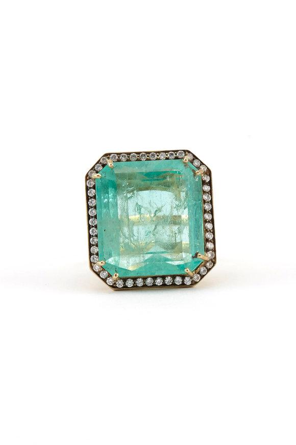 Sylva & Cie 18K Yellow Gold Colombian Emerald Ring