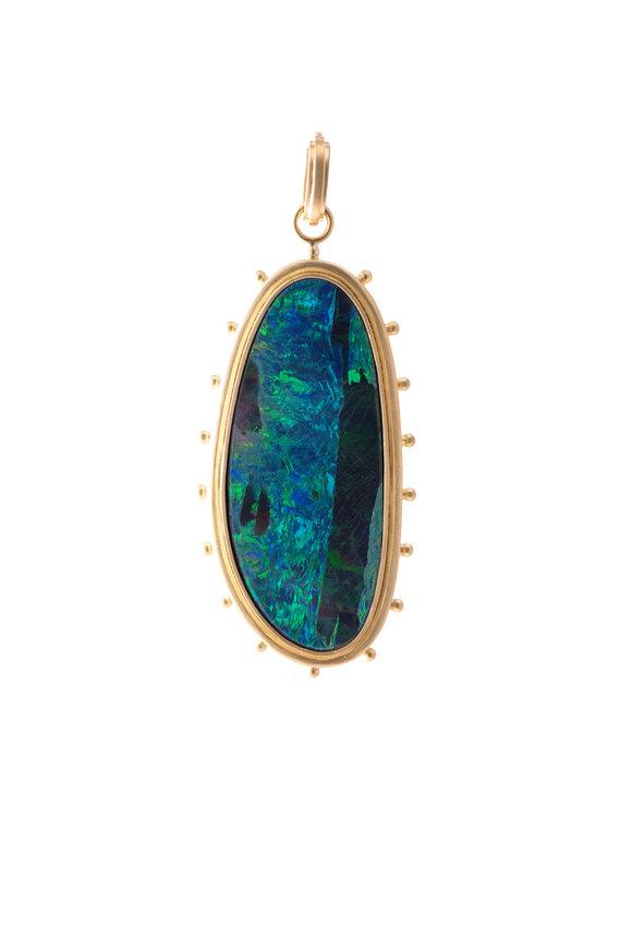 Sylva & Cie 18K Yellow Gold Opal Pendant