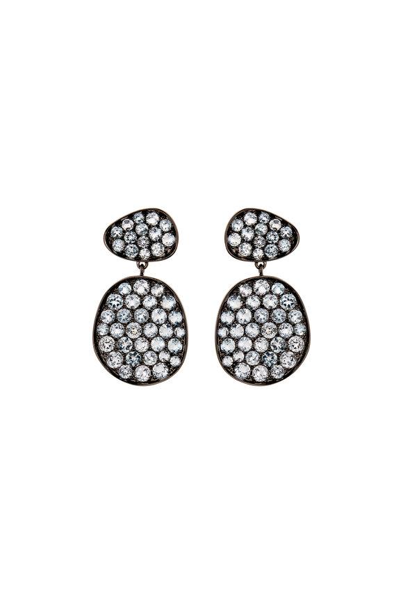 Etho Maria 18K White Gold Small Circle Earrings