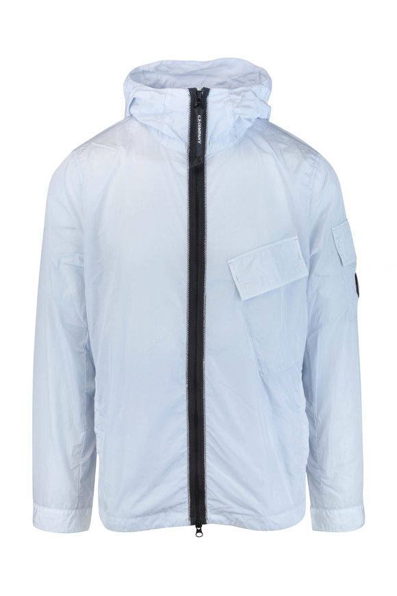 CP Company Chrome Halogen Blue Hooded Lens Overshirt