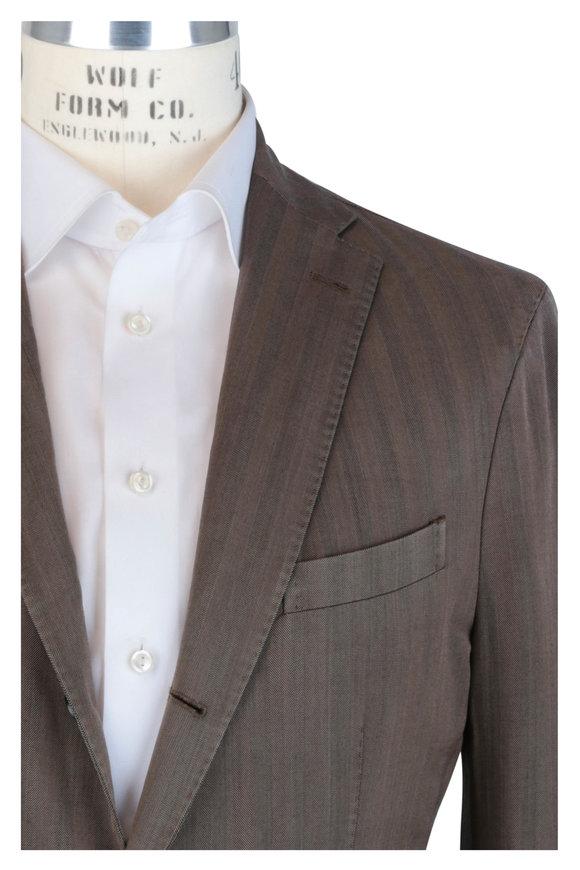 Boglioli Tobacco Herringbone Wool Sportcoat
