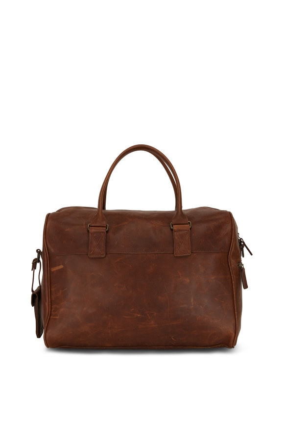 Moore & Giles Booker Brown Leather Cabin Duffel