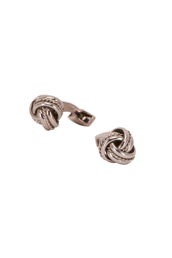 Tateossian Sterling Silver Royal Knot Cufflinks
