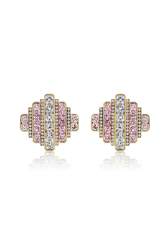 Sorellina 18K Yellow Gold Ombré Spinel Earrings
