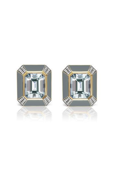Sorellina - 18K Yellow Gold Mixed Stone Earrings