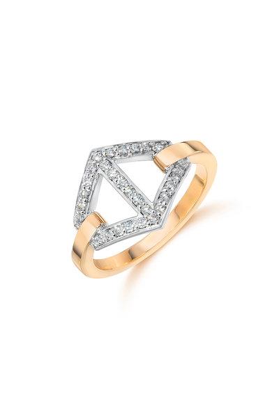 Walters Faith - 18K Rose Gold Signature Diamond Stack Ring