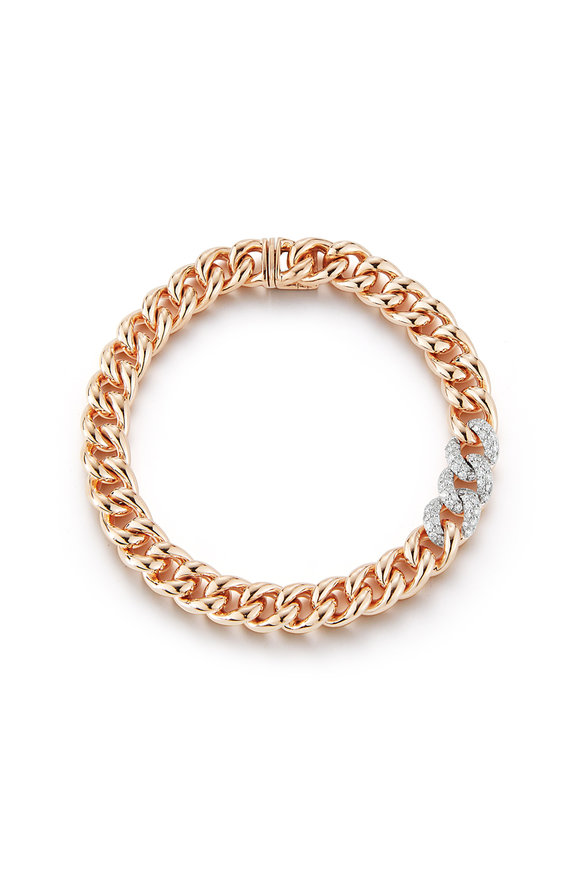 Walters Faith 18K Rose Gold Saxon Diamond Link Bracelet