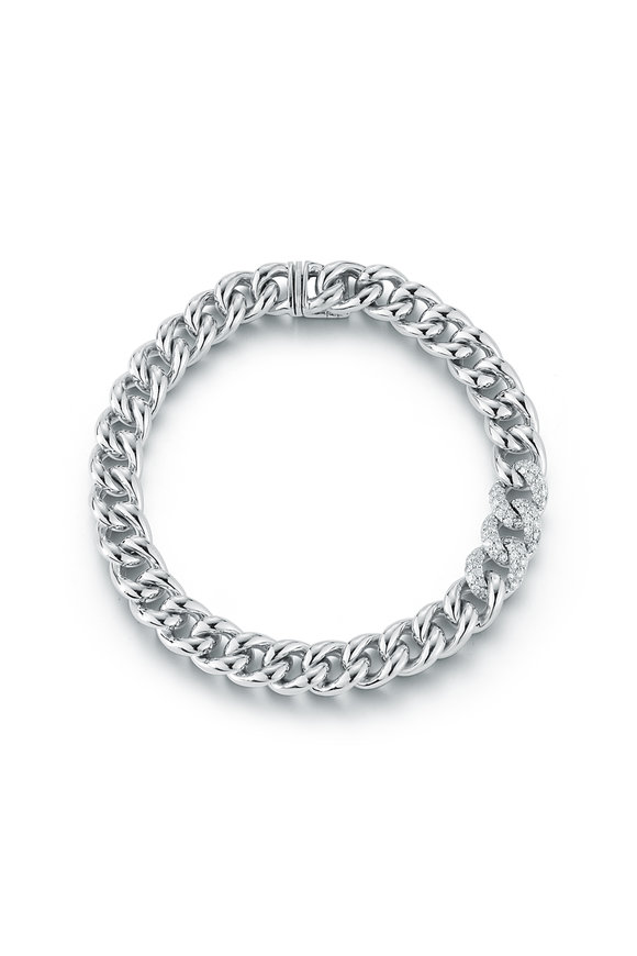 Walters Faith 18K White Gold Saxon Diamond Link Bracelet