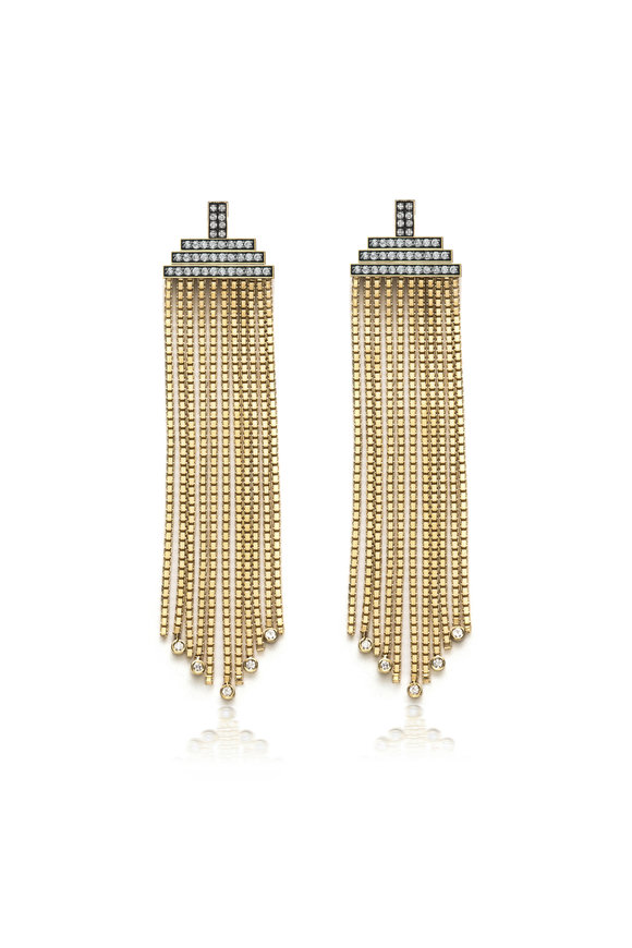 Sorellina 18K Yellow Gold Venetian Box Chain Earrings