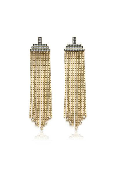 Sorellina - 18K Yellow Gold Venetian Box Chain Earrings